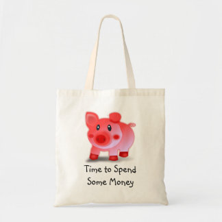 Piggy Time to spend some money bag
