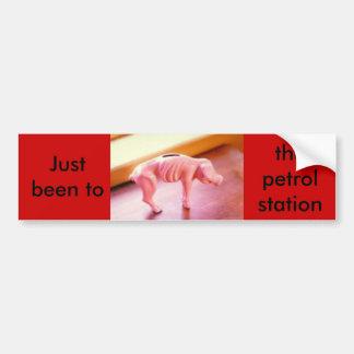 piggybank, Just been to the petrol station. Bumper Sticker