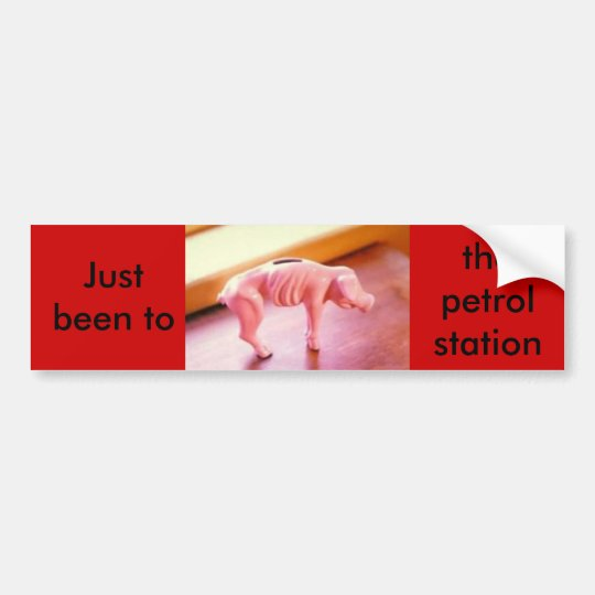 piggybank, Just been to the petrol station. Bumper Sticker