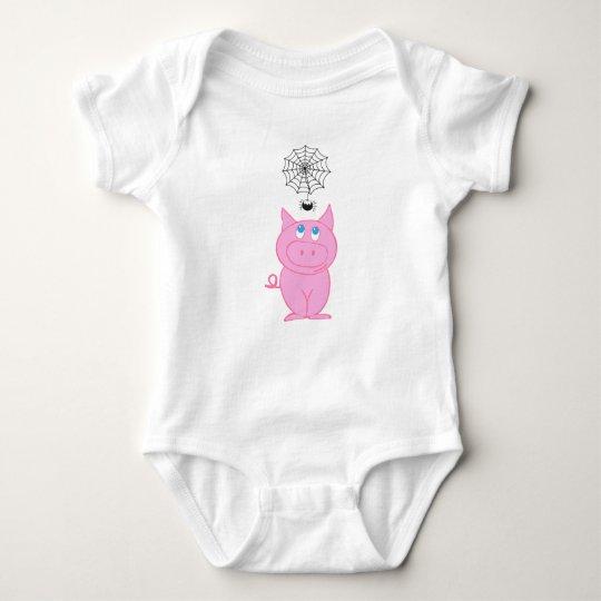 Piggy's Web Baby Jersey Bodysuit