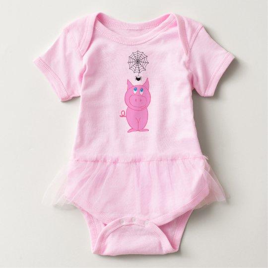 Piggy's Web Baby Tutu Bodysuit