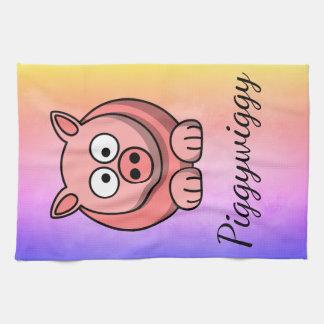 PiggyWiggy Little Pigling Pastel Cute Piglet Tea Towel