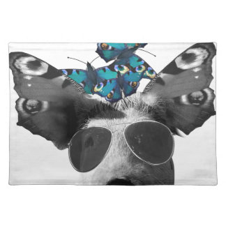 Piglet And Butterfly Pig Animal Placemat