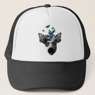 Piglet And Butterfly Pig Animal Trucker Hat