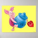 Piglet and Hunny Pot Print
