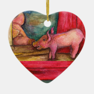 Piglet and Mama Ornament