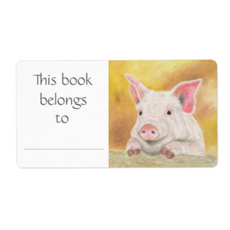 Piglet book label