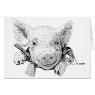 Piglet Greeting Cards