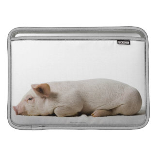 Piglet Lying Down Profile MacBook Air Sleeves