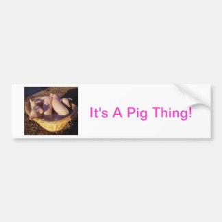 Piglet Pigs Bumper Sticker