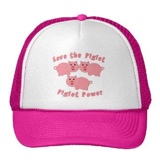 Piglet Power Hats