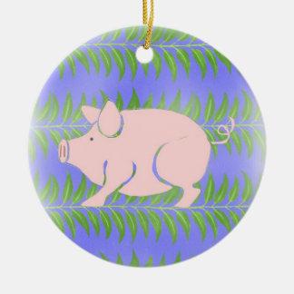 Piglet Round Ceramic Decoration