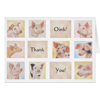 Piglet Thank You card