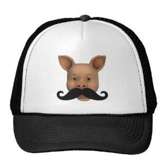 Piglet With Mustache Cap