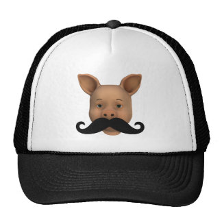 Piglet With Mustache Mesh Hats