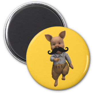 Piglet With Mustache Fridge Magnets