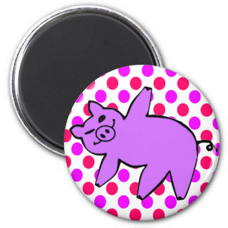 Piglet Yoga - Funny Yoga Gifts 6 Cm Round Magnet