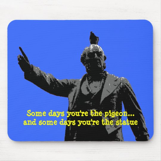 Pigoen or Statue Mouse Pad