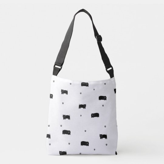 Pigs and Apples Pattern Crossbody Bag