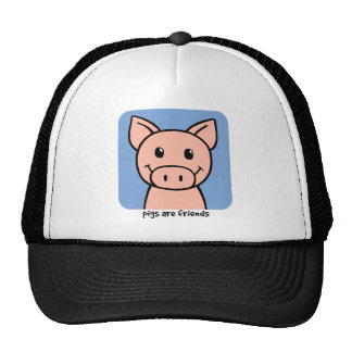 Pigs Are Friends Mesh Hats