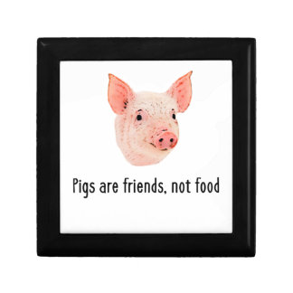 Pigs are friends, not food design gift box
