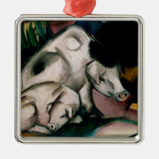 Pigs, c.1912 (oil on canvas) christmas ornament