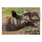 Pigs ear greeting card