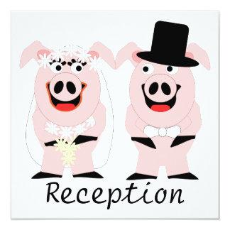 Pigs Evening Reception 13 Cm X 13 Cm Square Invitation Card