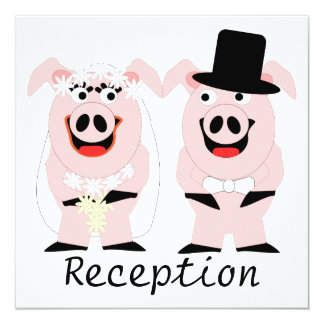 Pigs Evening Reception Card