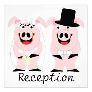 Pigs Evening Reception Custom Invitations