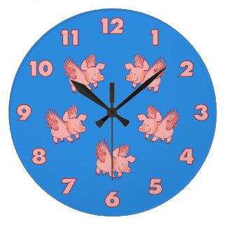Pigs Fly custom clock