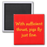 Pigs Fly Fridge Magnets