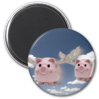 Pigs Fly 6 Cm Round Magnet