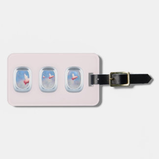 Pigs Fly Past Airplane Window Luggage Tag