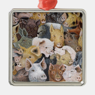 Pigs Galore Christmas Ornament