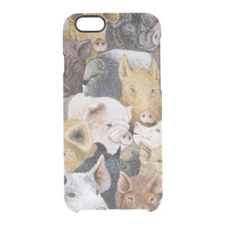 Pigs Galore Clear iPhone 6/6S Case