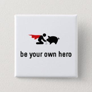 Pigs Hero 15 Cm Square Badge
