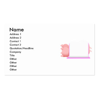 Pigs In A Pink Blanket Pack Of Standard Business Cards