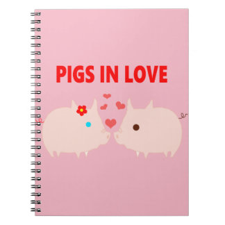 pigs in love spiral notebook