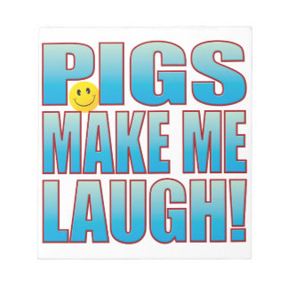Pigs Laugh Life B Notepad