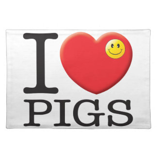 Pigs Love Placemats