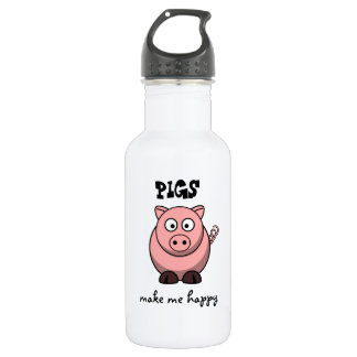 Pigs Make Me Happy 532 Ml Water Bottle