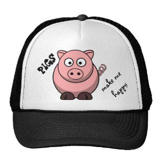 Pigs Make Me Happy Hat
