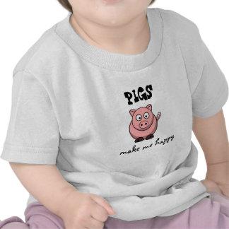 Pigs Make Me Happy Tshirts