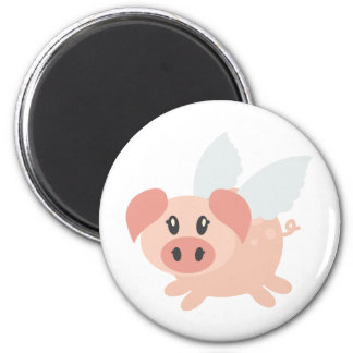 Pigs Might Fly 6 Cm Round Magnet