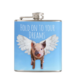 Pigs Might Fly Hip Flask