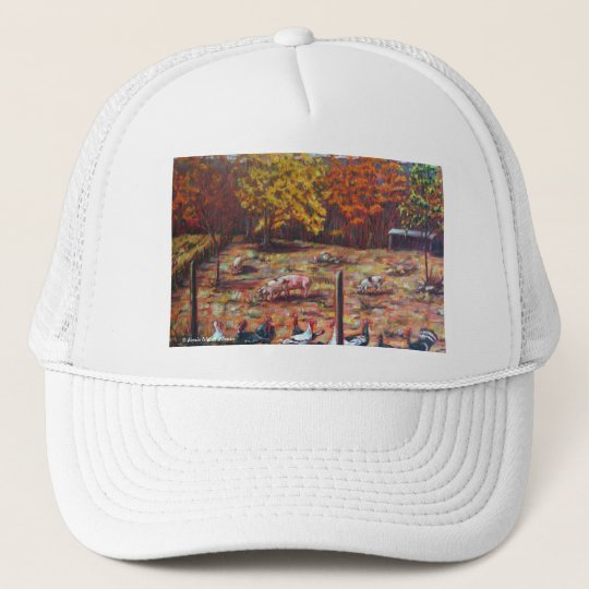Pigs & Roosters Trucker Hat