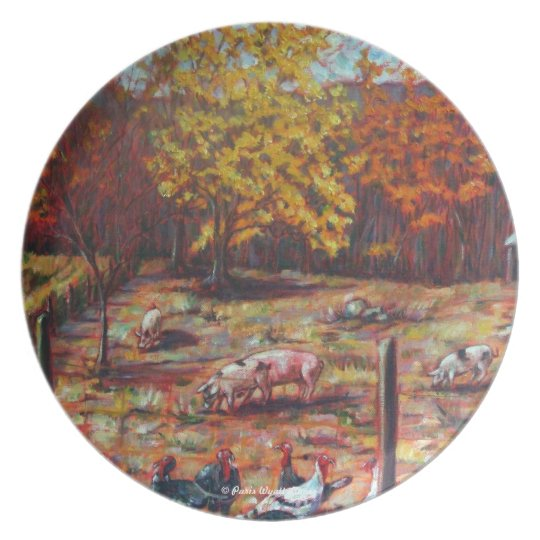 Pigs & Turkeys Plate