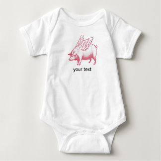 Pigs will fly! baby bodysuit