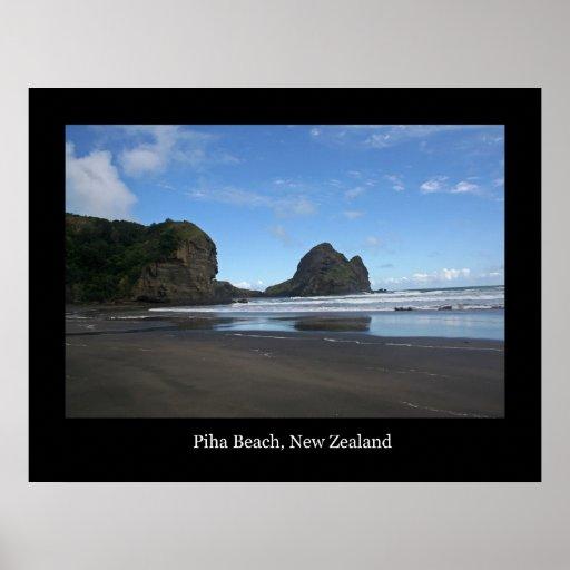 Piha Beach, New Zealand #3 Poster